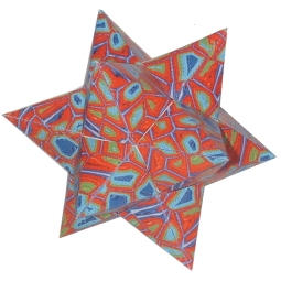 Small Stellated Docahedron Kit (red)